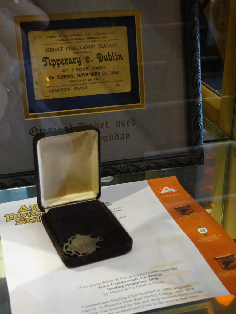 The first All-Ireland Hurling final took place in 1887. An Poitin Stil holds the medal given to Tipperary in 1887.
